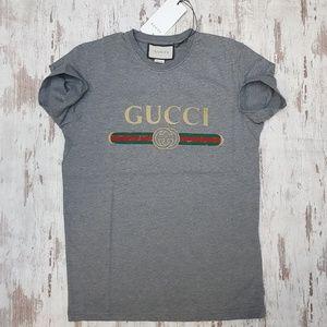 Gucci vintage gray tee